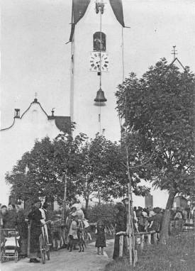 Abnahme der Glocke der Dekanats-Pfarrkirche Breitenwang am 25. August 1916