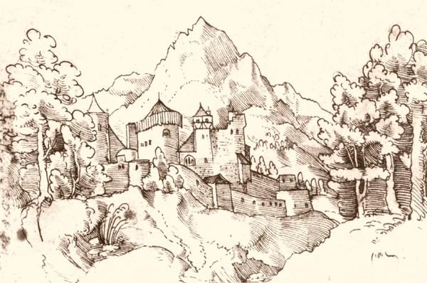 Ehrenberg um 1500 zur Zeit von Kaiser Maximilian I.