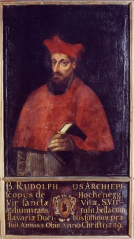 Erzbischof Rudolf von Hohenegg, Hofkanzler des Königs, Erzbischof von Salzburg